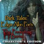 Игра Dark Tales: Edgar Allan Poe's The Premature Burial Collector's Edition