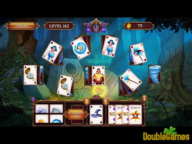 Free Download Solitaire: Elemental Wizards Screenshot 1